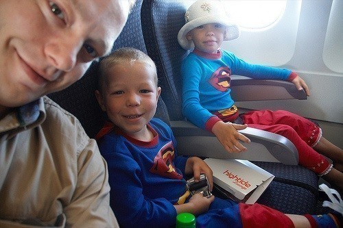 Surviving flight with kids