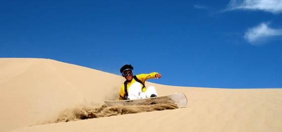Sandboarding – Cerro Blanco, Peru