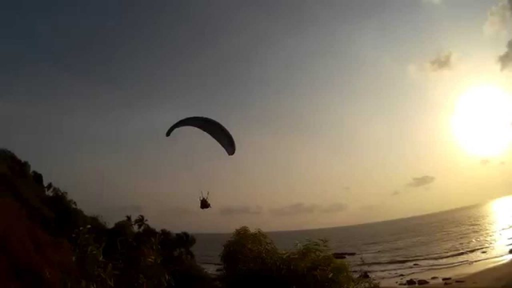 Paragliding In Arambol Beach, India