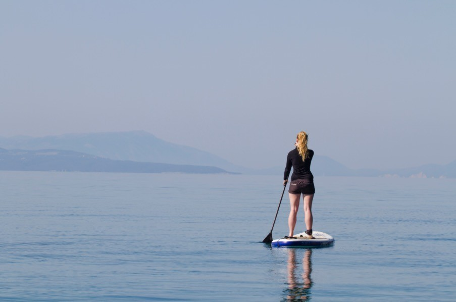 Stand-up Paddle Boarding At Pier 40, San Francisco